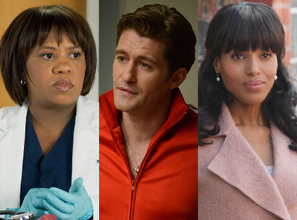Kerry Washington, scandal, Matthew Morrison, glee, Chandra Wilson, greys anatomy