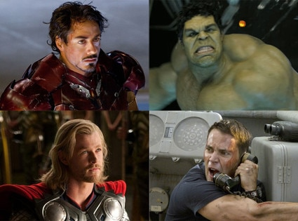 Iron Man, Thor, The Hulk, Battleship