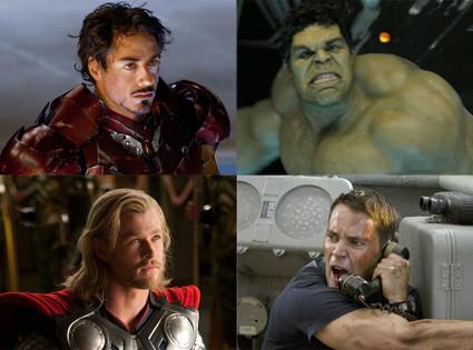 Iron Man, Thor, The Hulk, Battleship