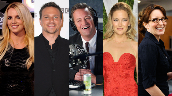 Britney Spears, X Factor, Drew Lachey, Dancing with the Stars, Matthew Perry, Go On, Kate Hudson, Glee, Tina Fey, 30 Rock