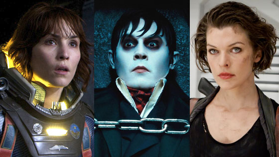 Dark Shadows, Prometheus, Resident Evil