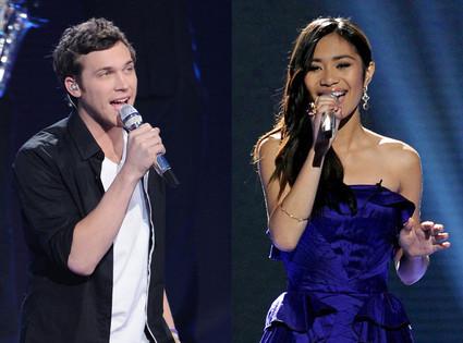 Phillip Phillips, Jessica Sanchez, American idol 11