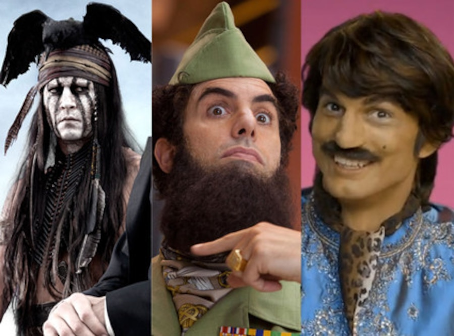 Johnny Depp, Tonto, Sacha Baron Cohen, The Dictator, Ashton Kutcher, Pop Chips
