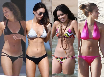 Lea Michele, Megan Fox, Vanessa Hudgens, Jessica Alba