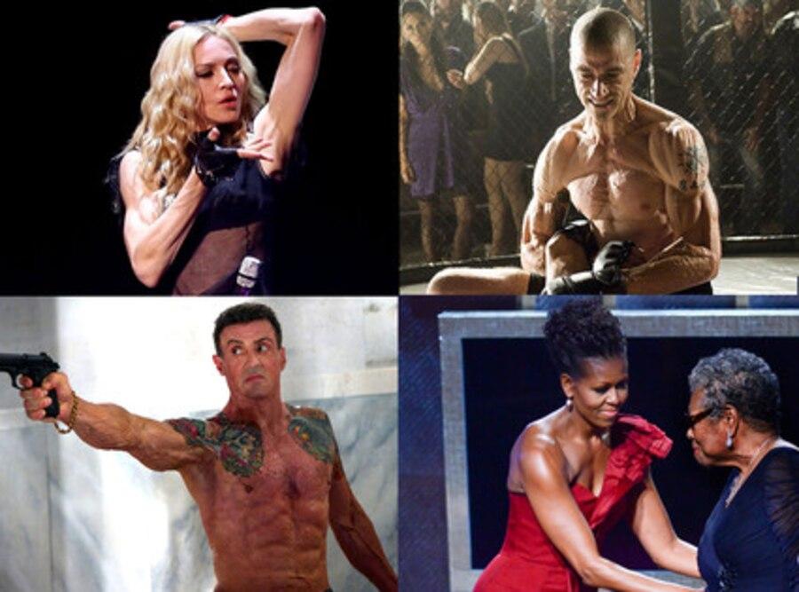Madonna, Michelle Obama, Matthew Fox, Sylvester Stallone, Muscles