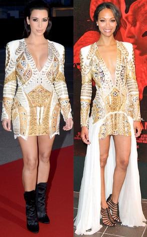 Kim Kardashian, Zoe Saldana