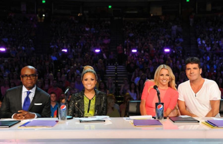 X Factor Judges,  L.A. Reid, Demi Lovato, Britney Spears, Simon Cowell