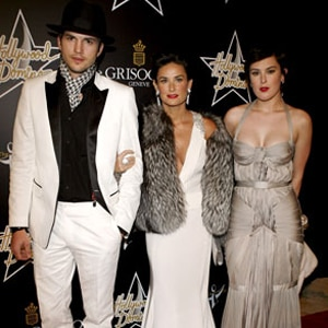 Ashton Kutcher, Demi Moore, Rumer Willis
