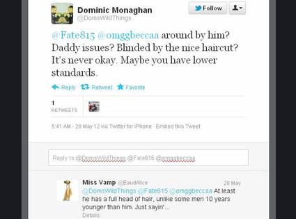 Dominic Monaghan, Matthew Fox, Tweets