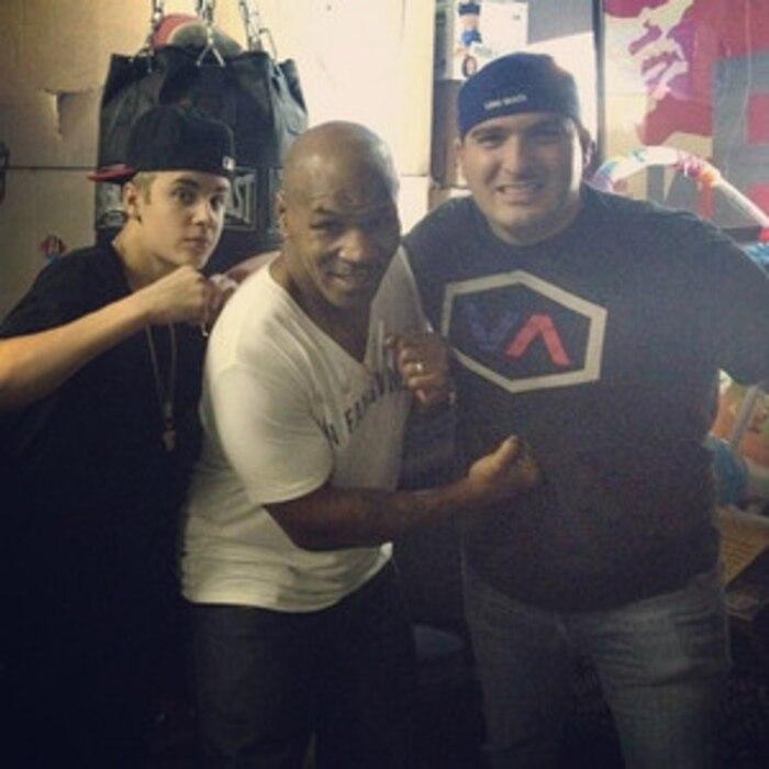 Justin Bieber, Mike Tyson, Twit Pic