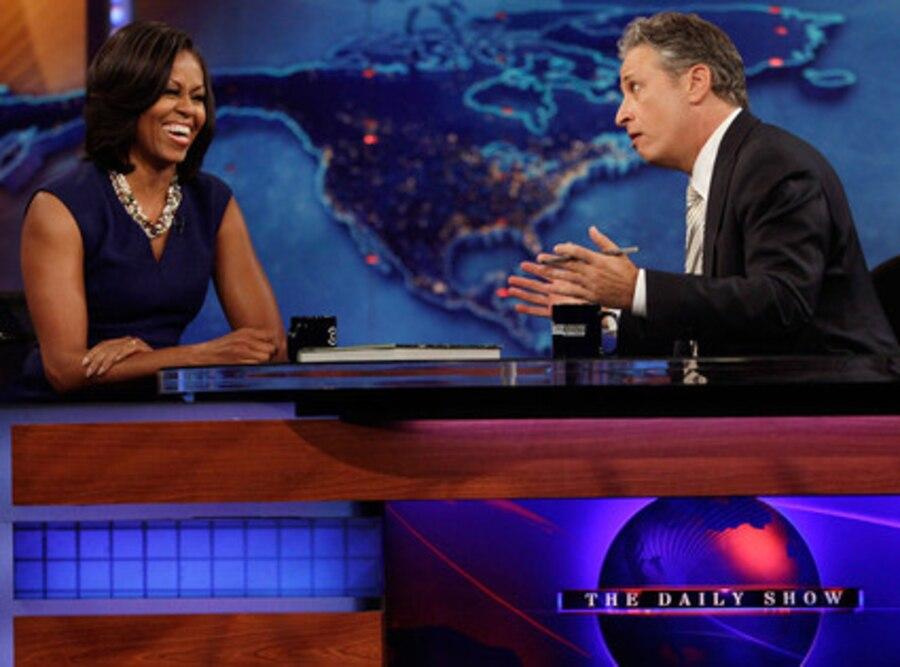 Michelle Obama, Jon Stewart