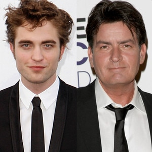Robert Pattinson, Charlie Sheen
