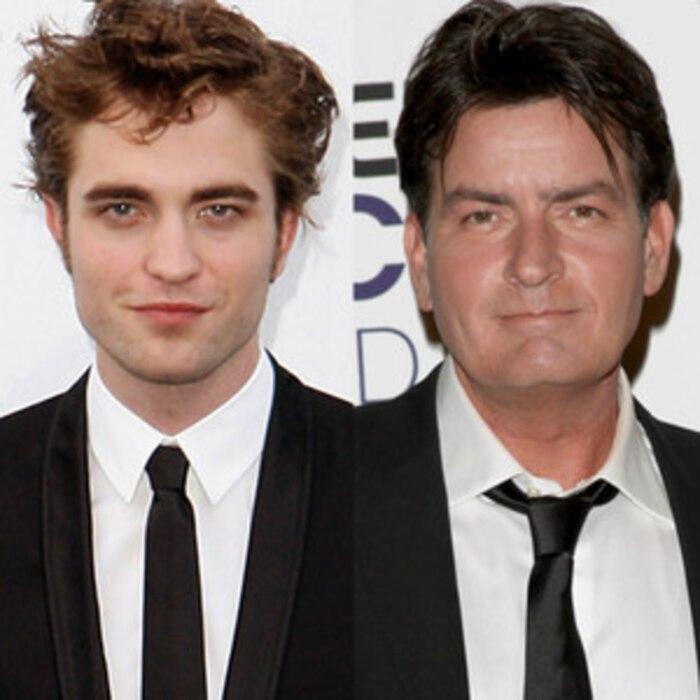 Robert Pattinson, Charlie Sheen