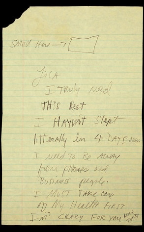 Michael Jackson, Lisa Marie Presley, Letter