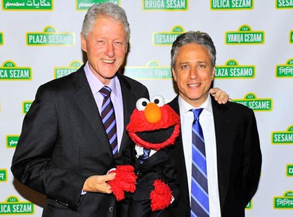 President Clinton, Elmo & Jon Stewart