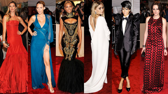 Beyonce, Blake Lively, Rihanna, Kristen Stewart, Ashley Olsen