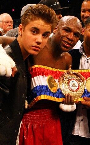 Justin Bieber, Floyd Mayweather Jr.