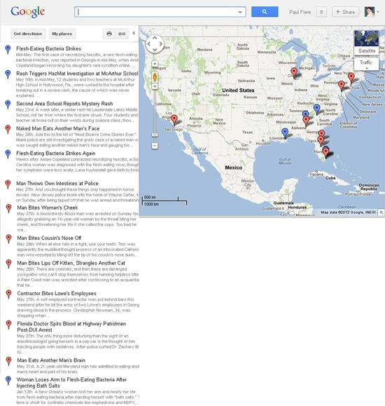 Zombie Google Map Soup