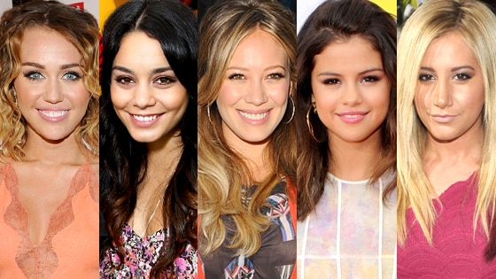 Vanessa Hudgens, Selena Gomez, Ashley Tisdale, Hilary Duff, Miley Cyrus
