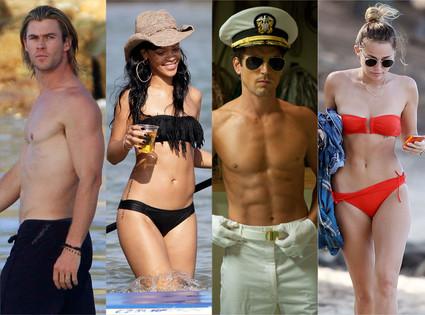 Chris Hemsworth, Rihanna, Matt Bomer, Miley Cyrus
