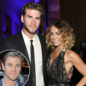 Miley Cyrus, Liam Hemsworth, Chris Hemsworth