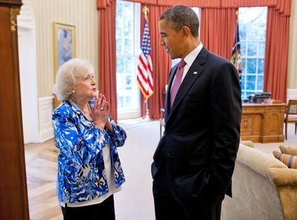 Betty White, Barack Obama
