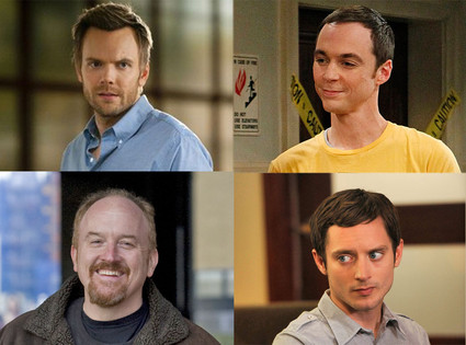 Louis C.K., Louie, Jim Parsons, Big Bang Theory, Elijah Wood, Wilfred, Joel McHale, Community