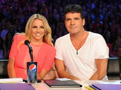 X Factor Judges, Britney Spears, Simon Cowell