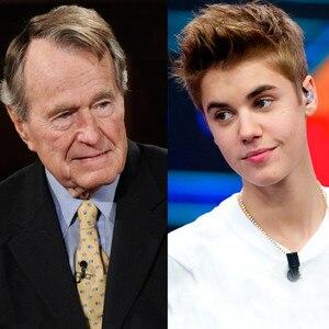President George H.W. Bush, Justin Bieber
