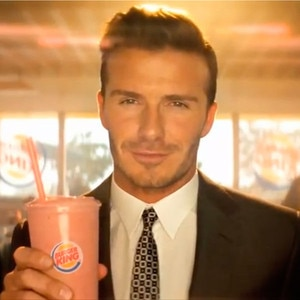 David Beckham, Burger King Commercial