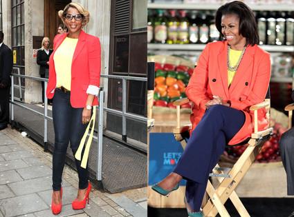 Michelle Obama, Mary J. Blige