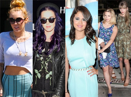 Miley Cyrus, Katy Perry, Selena Gomez, Dianna Agron, Taylor Swift