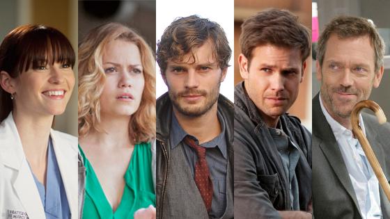 Matt Davis, The Vampire Diaries, Chyler Leigh, Grey's Anatomy, Hugh Laurie, House, Bethany Joy, One Tree Hill, Jamie Dornan, Once
