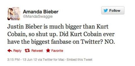 Bieber Fan Tweet Nirvana Soup X2