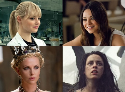 Emma Stone, Mila Kunis, Kristen Stewart, Charlize Theron
