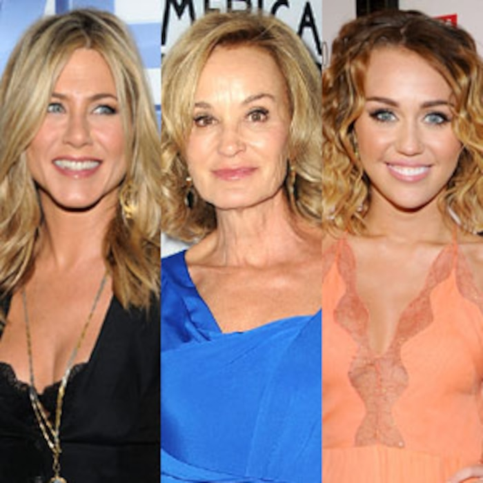 Jennifer Aniston, Jessica Lange, Miley Cyrus