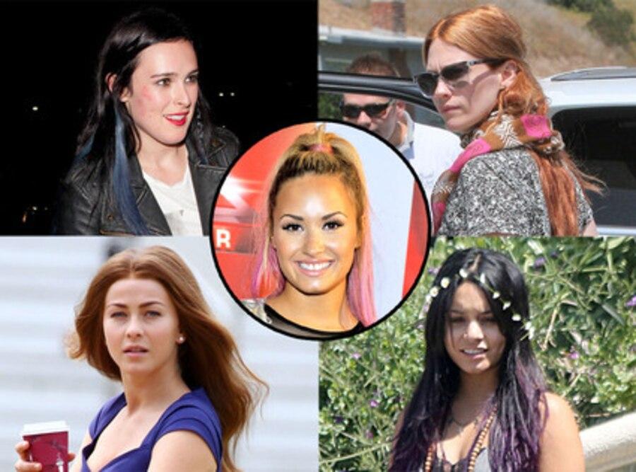 Vanessa Hudgens, January Jones, Julianne Hough, Demi Lovato, Rumer Willis
