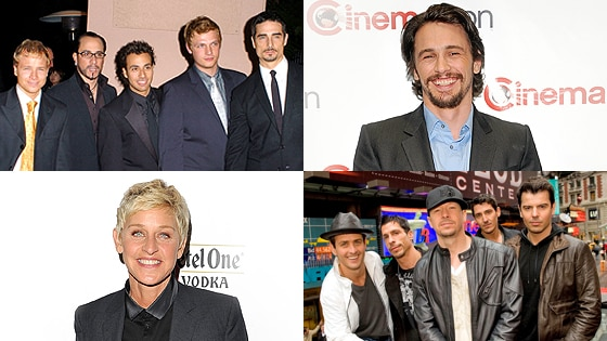 Ellen DeGeneres, James Franco, New Kids on the Block, Backstreet Boys