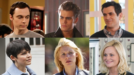 Modern Family, Homeland, Big Bang Theory, Once Upon a Time, Parks and Recreation, The Vampire Diaries