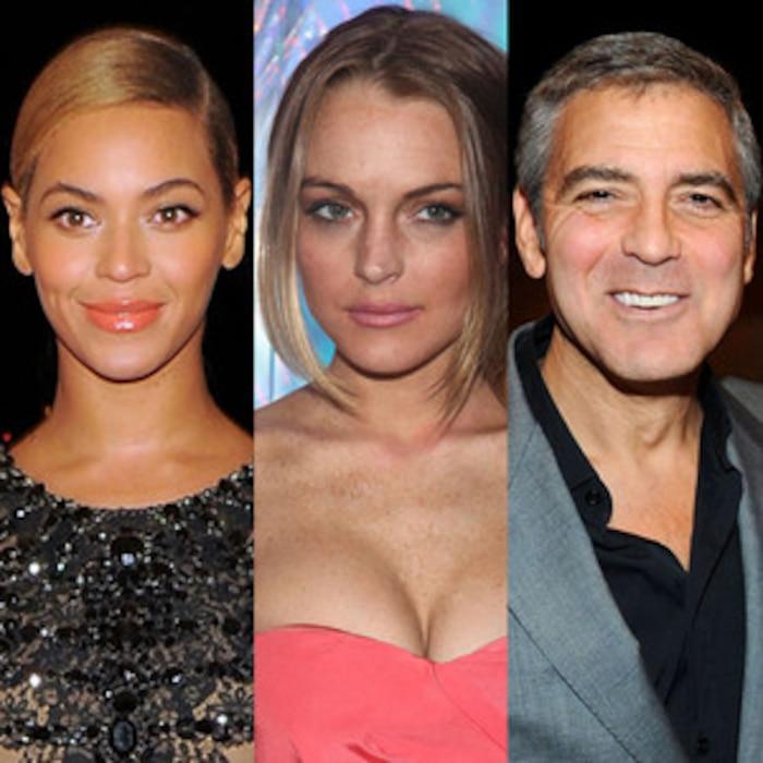 Lindsay Lohan, George Clooney, Beyonce