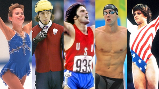 Michael Phelps, Tara Lipinski, Bruce Jenner, Mary Lou Retton, Apollo Anton Ohno
