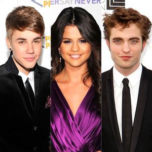 Justin Bieber, Selena Gomez, Robert Pattinson