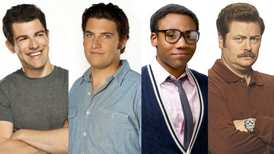 Max Greenfield, Nick Offerman, Donald Glover, Adam Pally