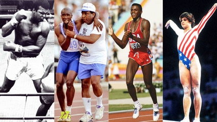 Top 10 Olympics moments, Mary Lou Retton, Carl Lewis, Muhammad Ali, Derek Redmond