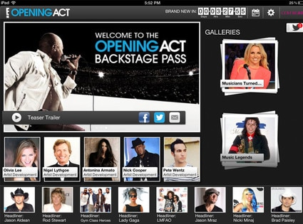 Opening Act, Mobile app