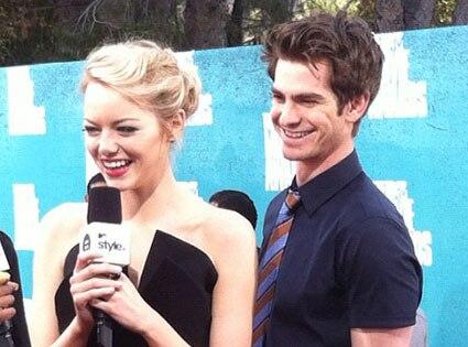 MTV Movie Awards, Emma Stone, Andrew Garfield, Malkin Twit Pic