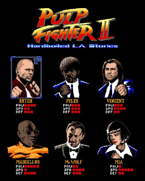 Pulp Fiction Street Fighter The Soup X2