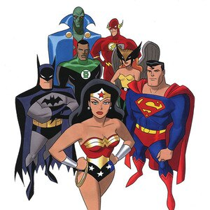 The Justice League cartoon