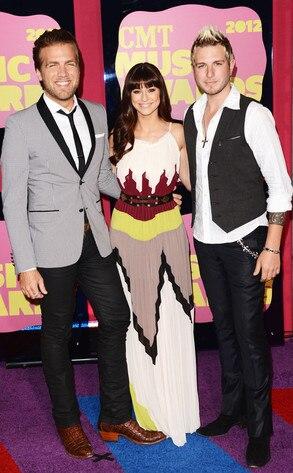 Tom Gossin, Rachel Reinert and Mike Gossin, Gloriana, CMT Awards