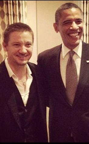 Jeremy Renner, Barack Obama